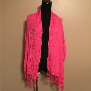 Ashley Cooper Viscose Pink Blanket Scarf